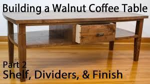 building a walnut coffee table shelf and divider joinery part 2 throughout coffee table joinery