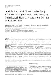 Pdf A Multifunctional Biocompatible Drug Candidate Is Highly