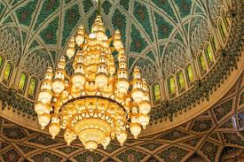 grand mosque in mu sultan qaboos grand mosque chandelier