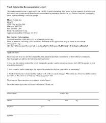 27 Letters Of Recommendation For Scholarship Pdf Doc Free
