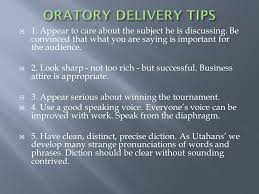 Original Oratory Rules 7 10 Minute Speech Topic Of Your Choice