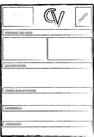 Resume Samples Doc File Free Curriculum Vitae Blank Template Resume