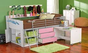 charleston storage loft bed with desk and shelves
