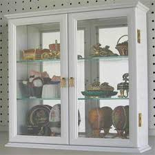 wall mounted curio cabinet. Small Wall Mounted Curio Cabinet Display Case With Glass Door White On