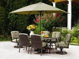 outdoor dining sets with umbrella. patio dining set with umbrella and green cushion chairs canvas table umbrellaslime umbrellas outdoor sets