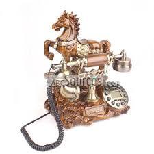 Decorative Telephones wholesale Decorative Antique Phones With Horse Resin Telephones 2
