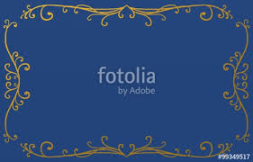 Fancy Background Design Royal Blue Background With Metallic Gold Border Design Of Fancy