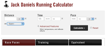 Altitude Conversion Chart For Running Introducing Jack Daniels Running Calculator Run S M A R T