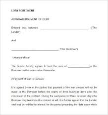 How To Write A Loan Contract Standard Loan Agreement Unique Loan Inspiration Loan Repayment Contract Free Template