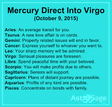 Mercury Sign Compatibility Chart Mercury Direct In Virgo October 9 October 29 2015