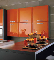 Orange Kitchen Popular Orange Kitchen Cabinets Cheap Also Cabinet Colour Image
