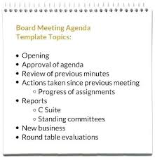 Board Meeting Agenda Template Fascinating Mock Advisory Board Meeting Agenda Global Competence Badge Proposal
