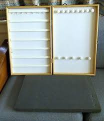 showcases to go portable jewelry display case wood used a more