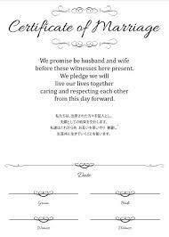 使える結婚証明書のテンプレートを無料でダウンロード Nanama