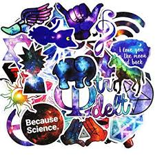 Zheyistep <b>50 Pcs Galaxy Stickers</b> Mixed Toy Cartoon Skateboard ...