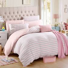 blue grey brown stripe duvet cover set twin queen king size bedding set knitted cotton soft bedclothes fit sheet pillowcase 4pcs in bedding sets from home
