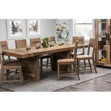 Dining table Rectangle Norman Extendable Solid Wood Dining Table Birch Lane Farmhouse Dining Tables Birch Lane