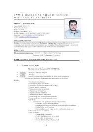 Resume Format Mechanical Engineer Resume Templates Format For