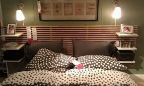 Headboard with ikea furntiure.
