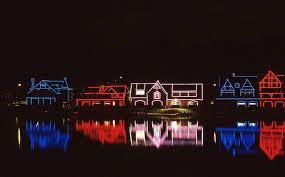 Boathouse Row Eagles Lights Boathouse Row In Philadelphia Pa Love The Patriotic Lights