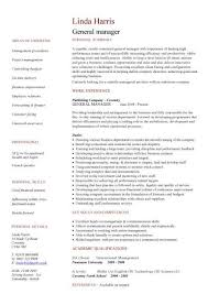 general manager CV sample, responsible for daily operations and business  performance, resume