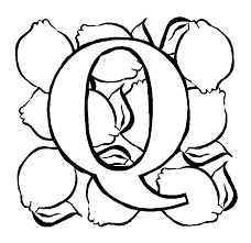 Small Picture Letter Q Quince coloring page