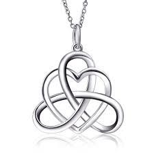 sterling triangle vintage pendant necklace