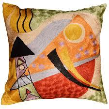 kandinsky abstract composition silk throw pillow cover ″ x
