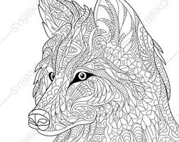 Intricate Wolf Coloring Pages