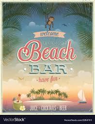 The Flyer Ads Beach Bar Ads Flyer Vector Image On Vectorstock