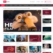 website template video joomla hvs elite video theme youtube vimeo video sharing template