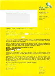 Mögliche antwort per fax und per einschreiben: Blauer Brief Update Domainfactory Blog