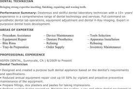 Dental Lab Technician Resumes 7 Lab Technician Resume Templates Free Download