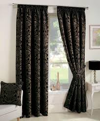 Lined Bedroom Curtains Crompton Ready Made Lined Curtains Black Luxury Headed Curtains