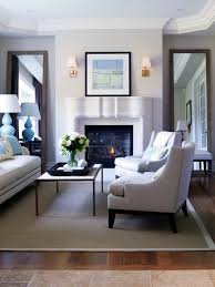 decorating a living room with floor mirrors
