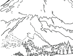 mountain coloring pages print mountain lion coloring pages printable