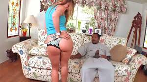 Wicked blonde Kaylynn gets fucked by a big black monster cock