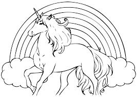 Coloring Pages Unicorn Coloring Free Printable Unicorn Rainbow