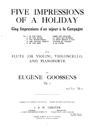 impressions of a holiday op goossens eugene  sheet music