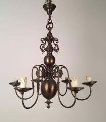 vintage bronze brass chandelier 1920s 2