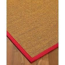 sisal carpet runner made in red border area rugs used custom