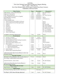 Conference Agenda Interesting EPMC Board Meeting Agenda For May 48 Estes Park TrailGazette
