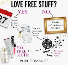 clearlyyouremistaken Everyone loves FREE stuff!! Book a party with me, and  earn up to $100 in free product!… | Pure romance consultant, Pure products,  Pure romance