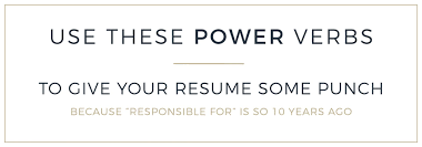 Old Fashioned Power Verbs Resume Sketch Documentation Template
