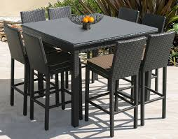 wicker patio dining furniture. Amusing Outdoor Dining Room Decoration With Pub Table And Chairs : Astonishing Wicker Patio Furniture