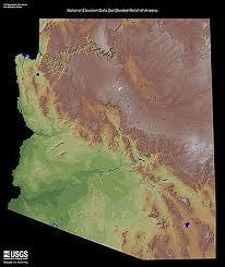 geography of arizona wikipedia Map Northeastern Arizona a shaded relief map of arizona map northeast arizona