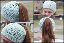 Free Crochet Hat Pattern With Ponytail Hole Gorgeous Crochet Ponytail Hat