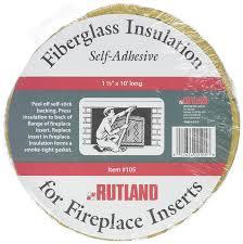 com rutland fireplace insert insulation fiberglass 1 1 2 inch by 10 feet home kitchen