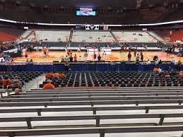 Carrier Dome Basketball Seating Chart Rows Carrier Dome Section 109 Syracuse Basketball