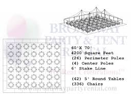 Round Table Seating Capacity Tent Seating Layouts Broadway Party Tent Rental